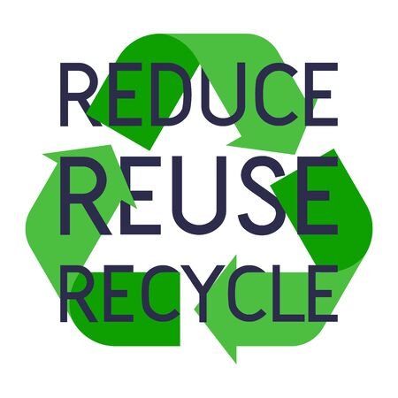 Recycle sign with Reduce reuse recycle slogan vector illustration.