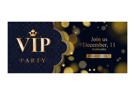 VIP invitation card premium design template. Vektoros illusztráció