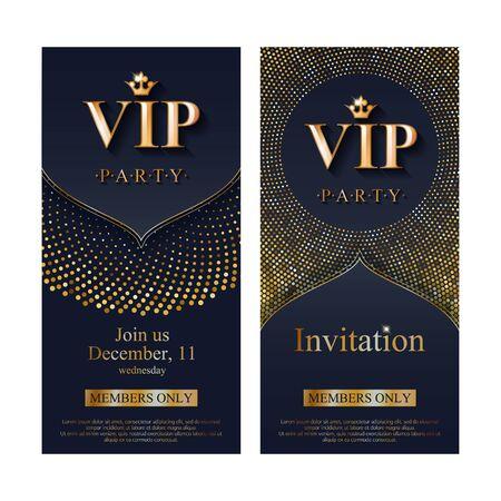 Plantilla de diseño premium de tarjeta de invitación VIP. Ilustración de vector