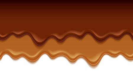 Molten chocolate drips - vector background. 일러스트