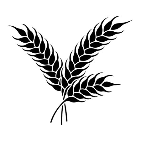 Wheat or rye ears icon. Farm or bakery symbol.