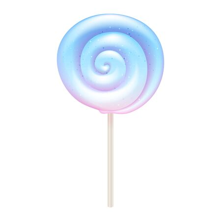 Colorful lollipop - sweet hard candy on stick.