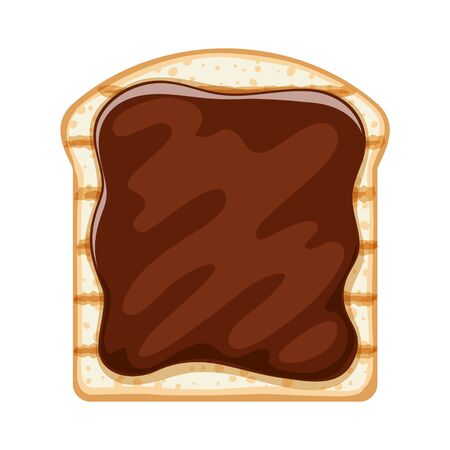 Open sandwich with sweet chocolate or cocoa spread.