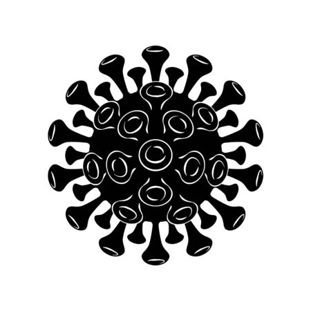 Coronavirus COVID-19 icon. Virus 2019-nCoV pandemic symbol.