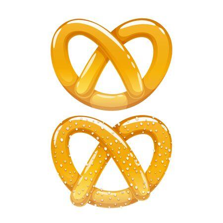 Pretzel icon. Traditional german bakery vector illustration.