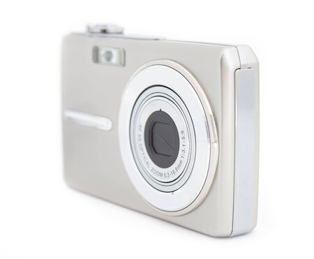 megapixel: Digital compact cameras isolated over white