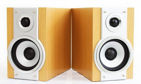A pair of hi-fi speakers photo