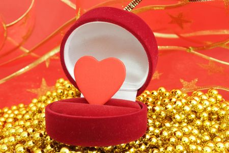 Gift box with a decorative heart photo
