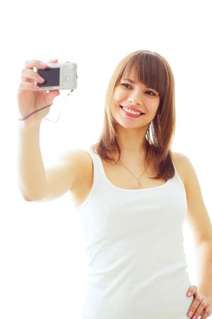 Girl photographs photo