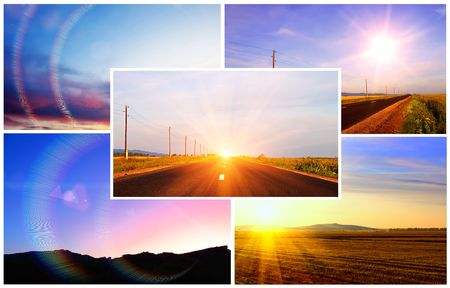 sunrises: Sunsets and sunrises