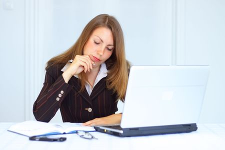 Business woman in the workplace photo