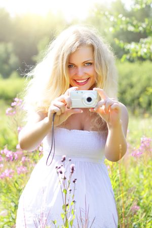Beautiful girl photographs Stock Photo - 7436548
