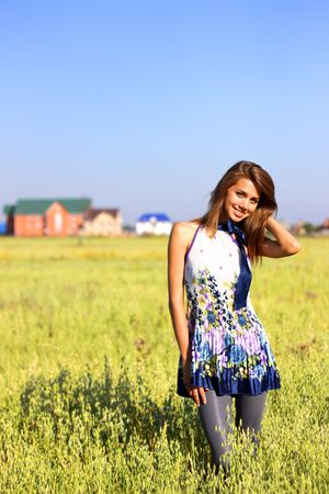 Beautiful girl in a field Stock Photo - 7511461