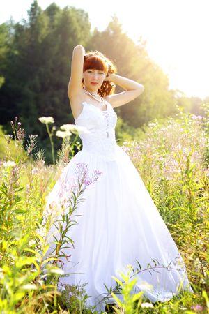 Beautiful girl in a wedding dress Stock Photo - 7528994
