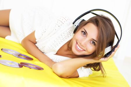 Girl Listening to Music photo