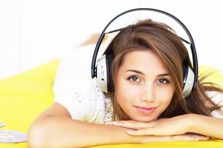 Girl listen music Stock Photo - 7579034