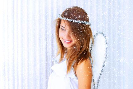 Beautiful girl in festive dress Stock Photo - 7608539