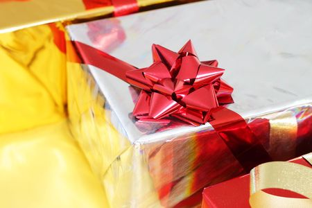 Several multi-colored gift boxes Stock Photo - 7915670