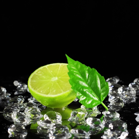 ice sheet: Lime on a black background