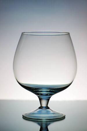 decorative wineglass on a gray background Stock Photo - 8534703