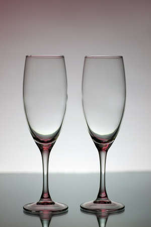 Two empty glasses for champagne Stock Photo - 8534676