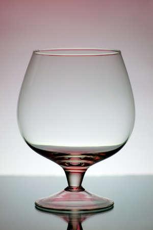 decorative wineglass on a gray background Stock Photo - 8534708