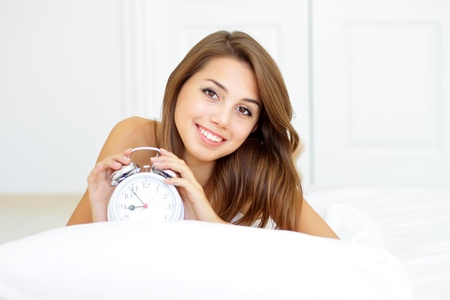 girl wakes up in the morning Stock Photo - 8534707