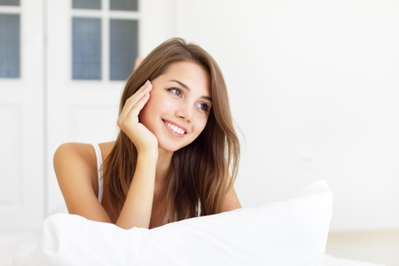 girl wakes up in the morning Stock Photo - 8534705