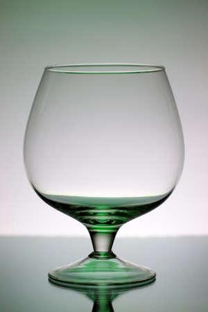 decorative wineglass on a gray background photo