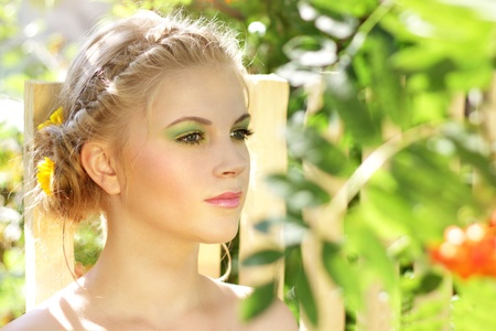 Young woman with summer make-up Stock Photo - 10310084
