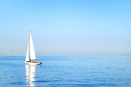 Sailboat  Gulf of Finland St  Petersburg photo