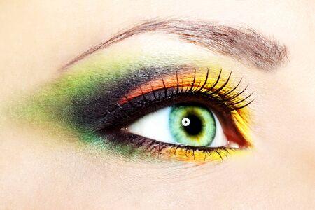 eye hole: Beauty female eye Makeup  close-up
