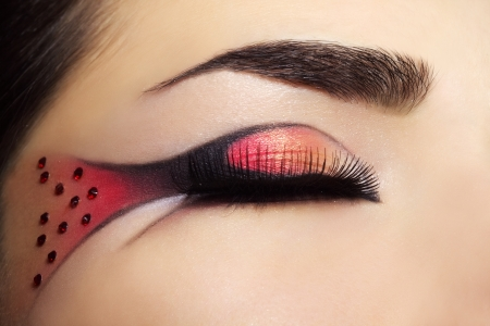 eye hole: Beautiful eye with creative make-up