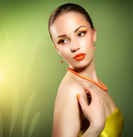 Sensual woman with beautiful make-up Stock Photo - 19562166