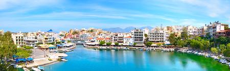 Agios Nikolaos. Crete. Europe. Panorama Stock Photo