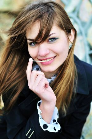 portraut of teen girl with chewing gum Stock Photo - 6710999