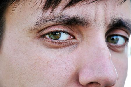 man eyes close-up portrait