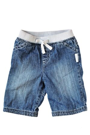baby jeans on over the white background photo