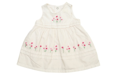white baby dress on over th white Stock Photo - 14089712