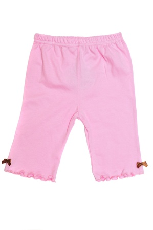 pink pants for baby girl photo