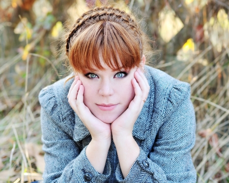portrait of redhead girl in fall time Stock Photo - 14091021