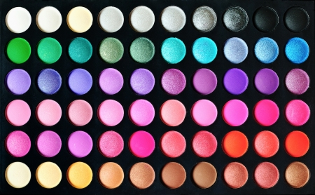 Make-up colorful eyeshadow palettes, as background