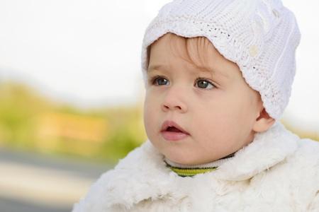 looking ahead: baby girl looking ahead