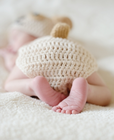 sweet heels of little newborn photo