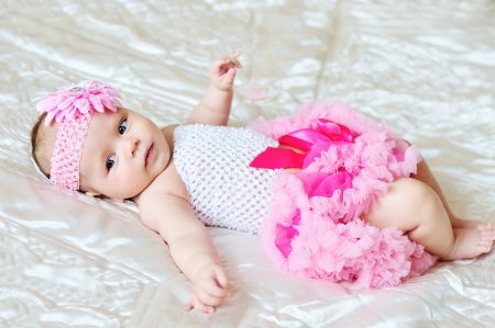 so sweet baby girl wearing tutu skirt photo