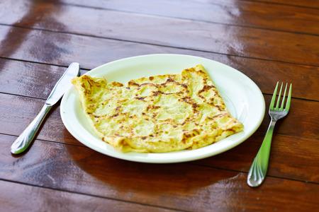 whithe: tortilla en el plato whithe