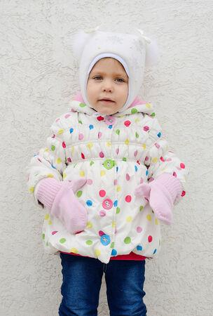 cute girl wearing warm clothing photo