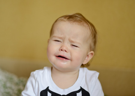 crying baby with sad face Stock Photo - 29471292
