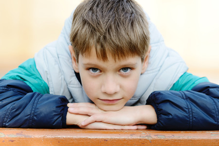 portrait of 8 years old boy
