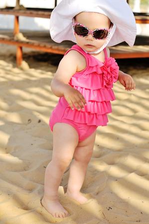 fashion baby on the beach photo
